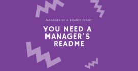 why you need a manager readme