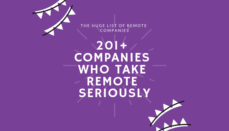 remote seriously list of 200 companies